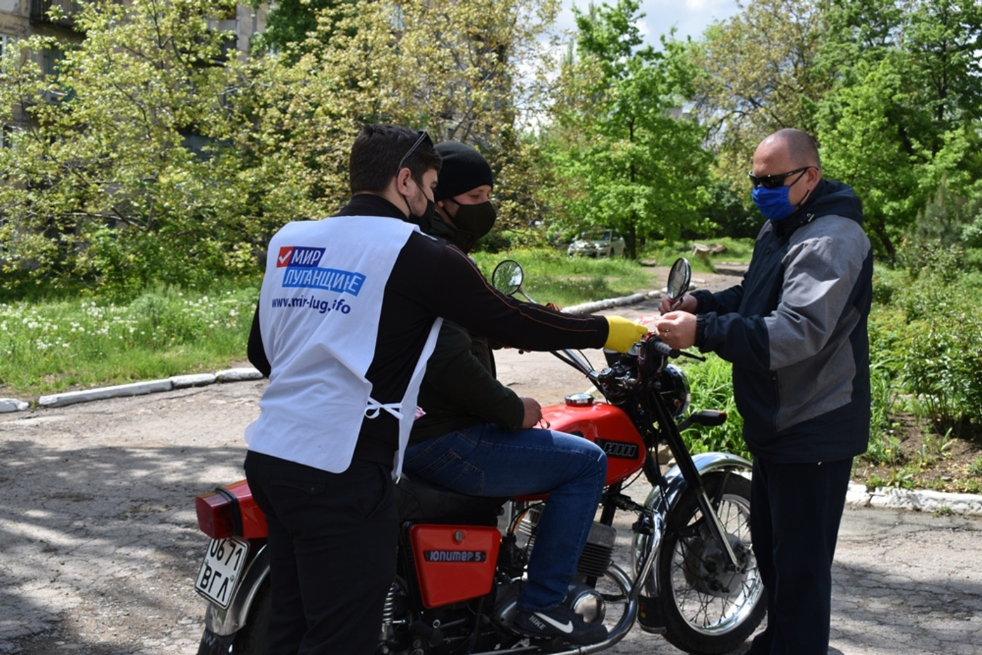 В ЛНР провели акцию «Георгиевская ленточка» 5