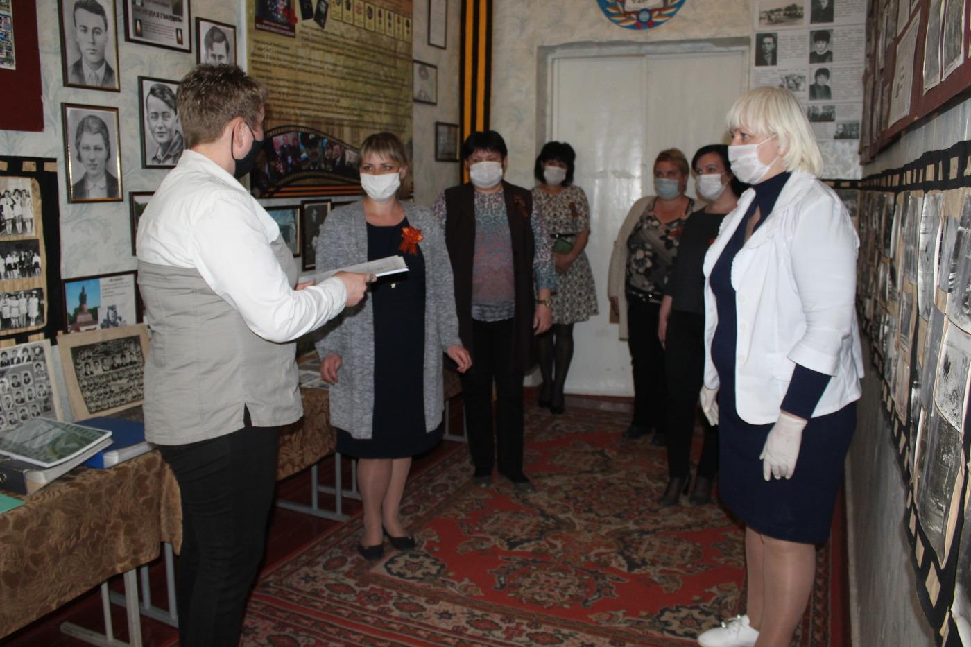В музей истории зимогорьевской школы передали копии архивных документов