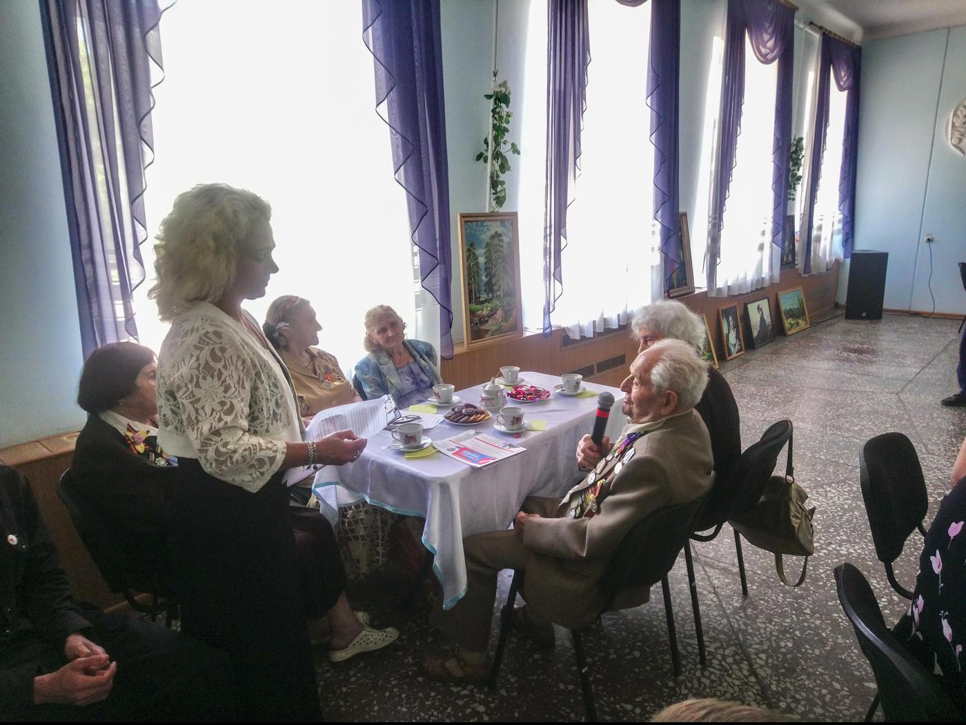 В Алчевске прошла встреча ветеранов ВОВ с активистами проекта «Молодая Гвардия» 2
