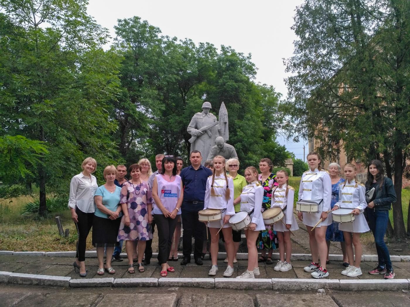 Активисты Красного Луча провели митинги памяти «Помним, скорбим» 3