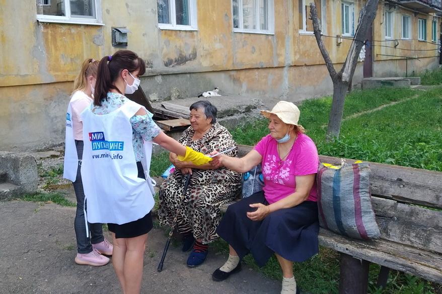 В Первомайске молодёжь рассказала жителям о Герое Советского Союза Алексее Черкасове