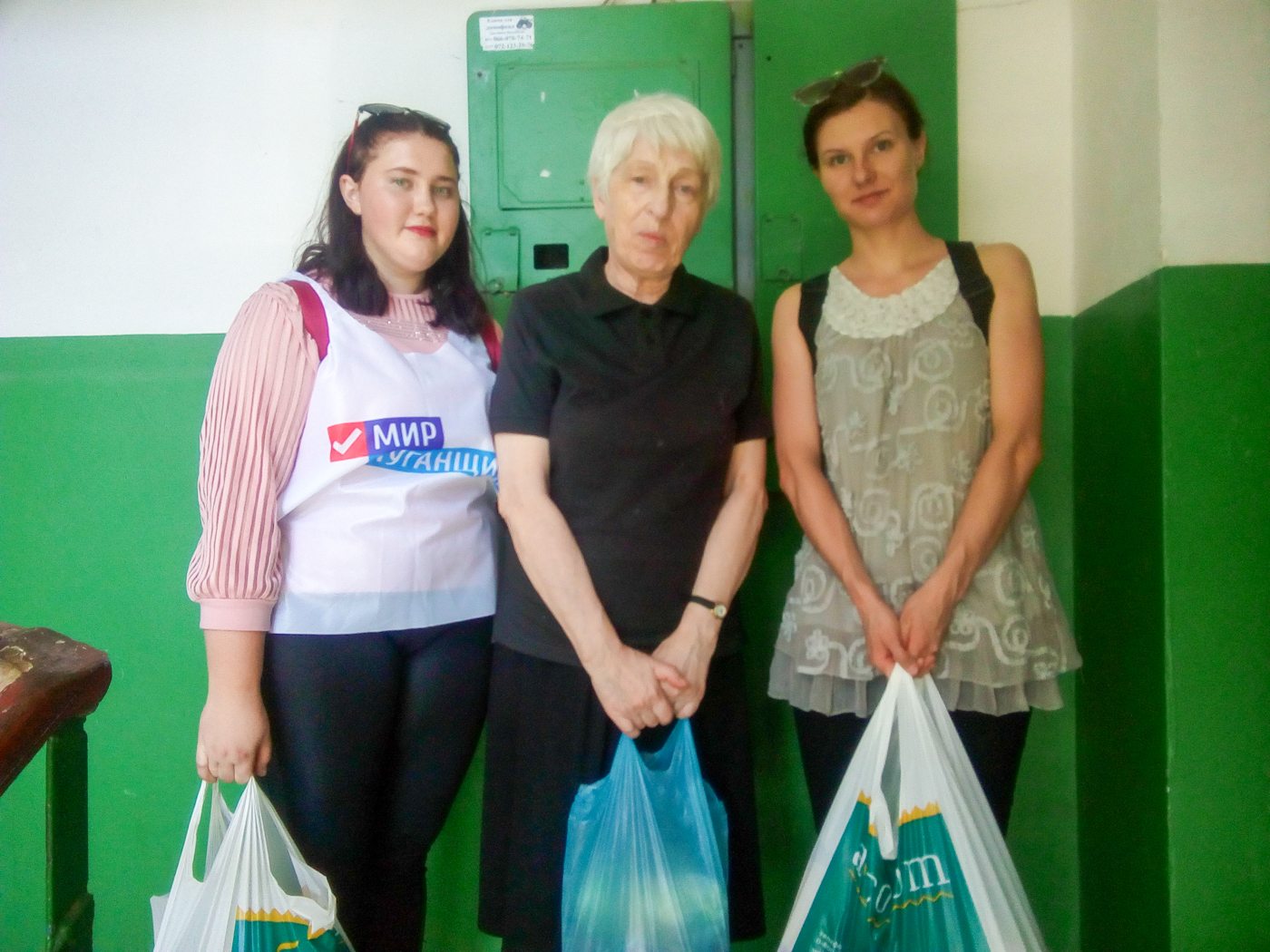 Волонтёры Луганска помогли жительнице