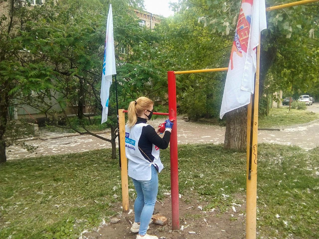 В Луганске активисты ОД «Мир Луганщине» провели субботник 1