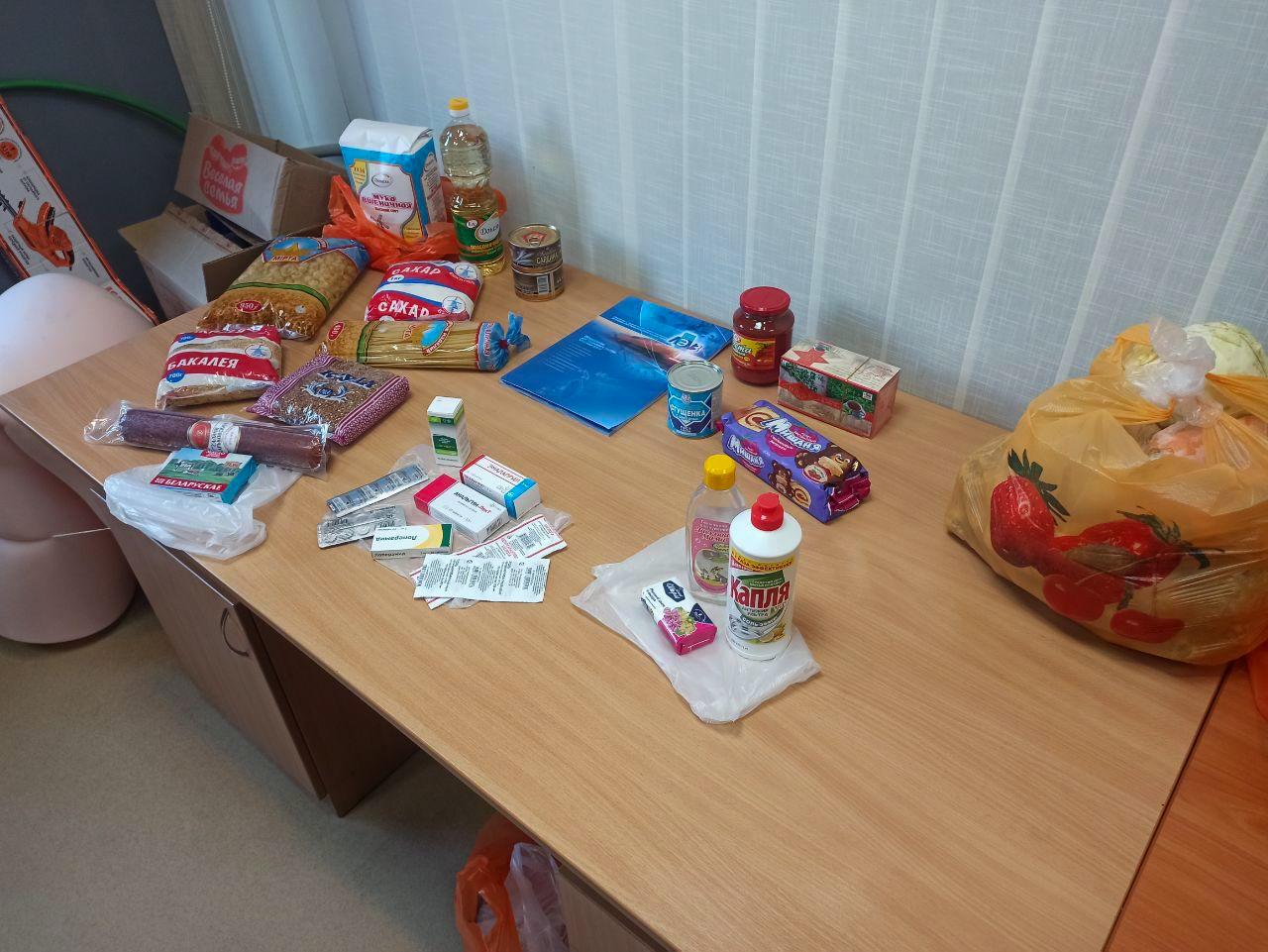Активисты проекта «Волонтёр» передали жителям Луганска продуктовые наборы 2