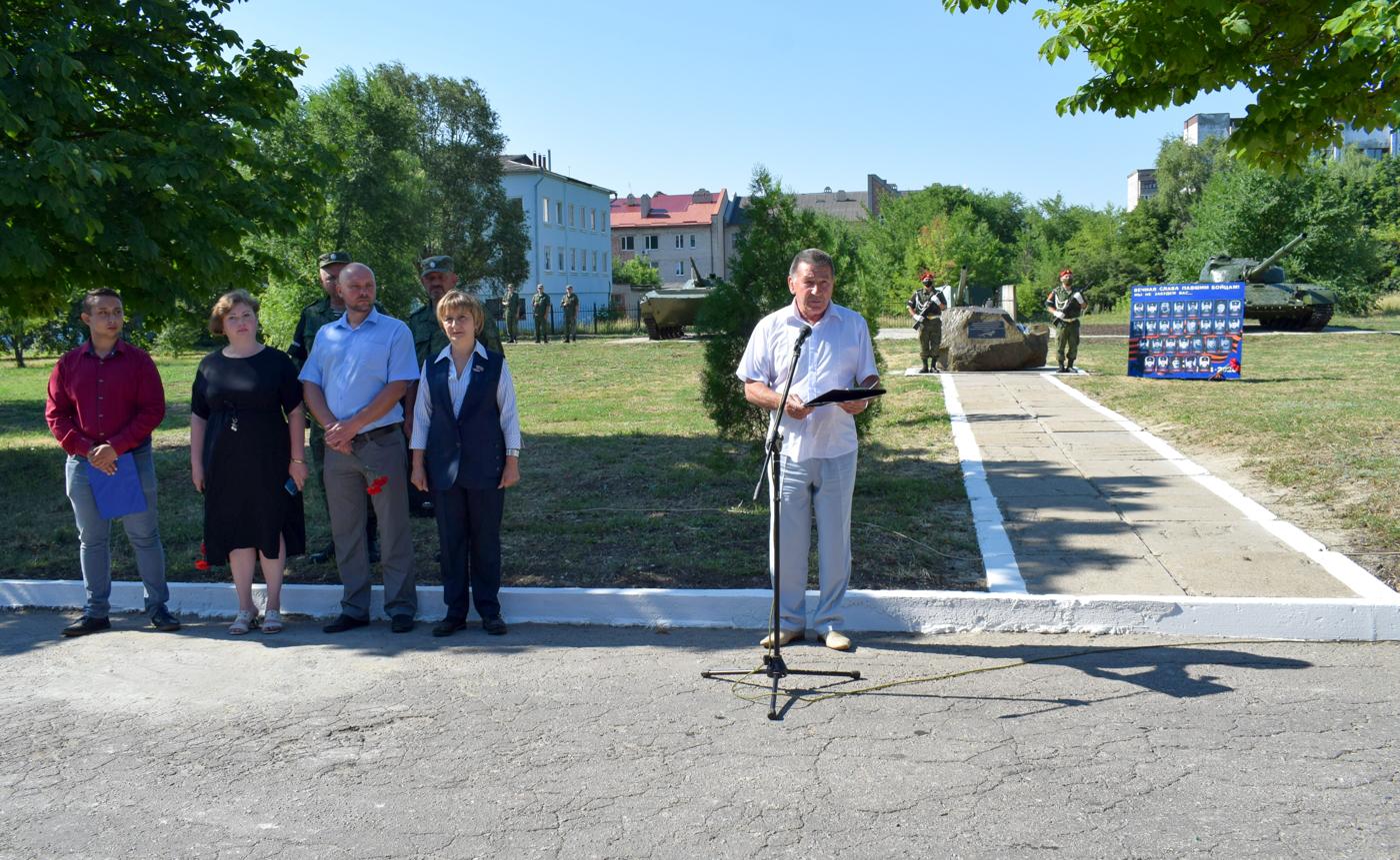 Память погибших при первом обстреле Первомайска со стороны ВСУ почтили активисты ОД «Мир Луганщине» 2