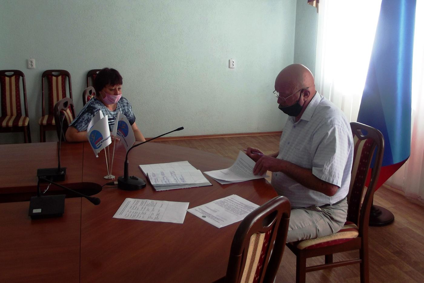 В Краснодоне исполняющий обязанности главы администрации провёл приём граждан