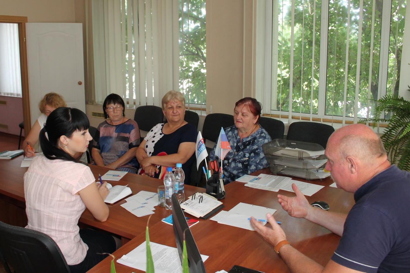 Александра Коваленко провела встречу с избирателями в селе Новоанновка Краснодонского района