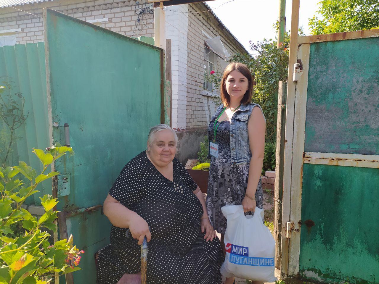 От проекта «Волонтёр» жителям Первомайска передали продуктовые наборы