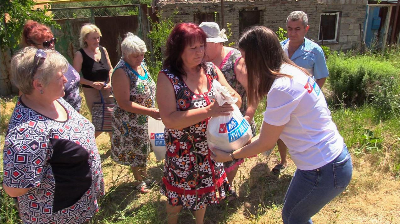 Жителям посёлка Большая Вергунка передали продуктовые наборы от проекта «Волонтёр»