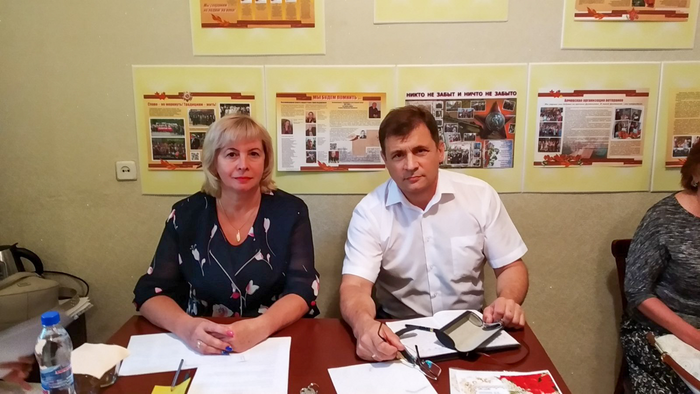 Депутат Народного Совета Роман Лысенко встретился с активом Совета ветеранов в Алчевске