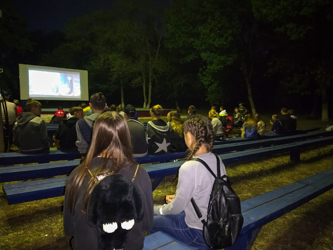 В Перевальске под открытым небом прошёл показ фильма «Детектив Пикачу»