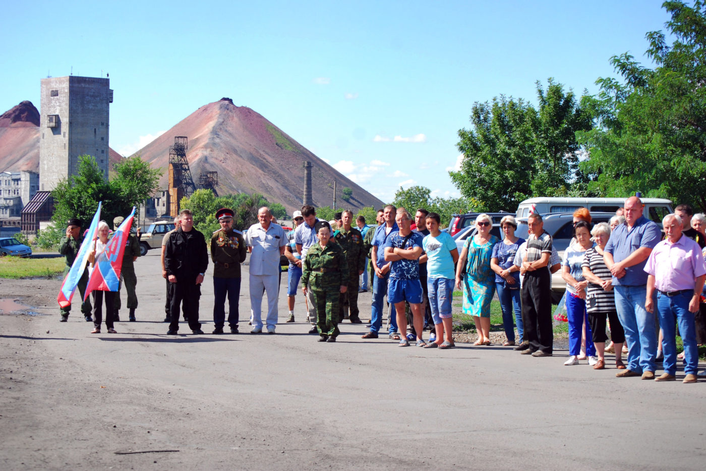 В Червонопартизанске состоялся митинг-реквием, посвященный шестой годовщине освобождения Свердловского района от ВСУ