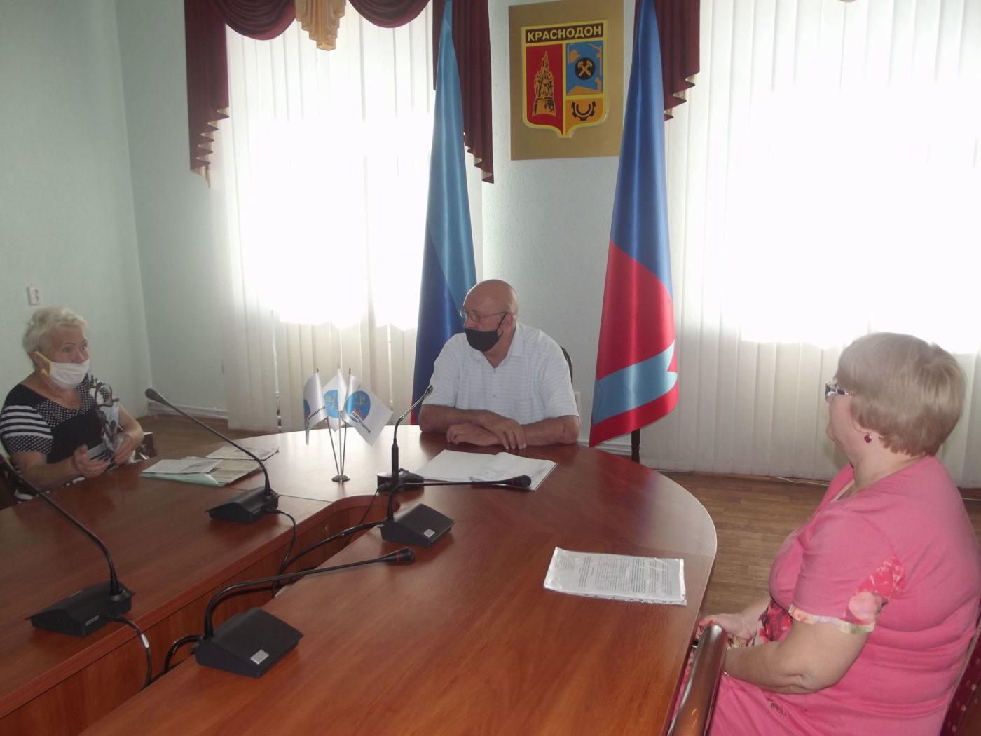 Врио главы Администрации города Краснодона и Краснодонского района провёл приём граждан