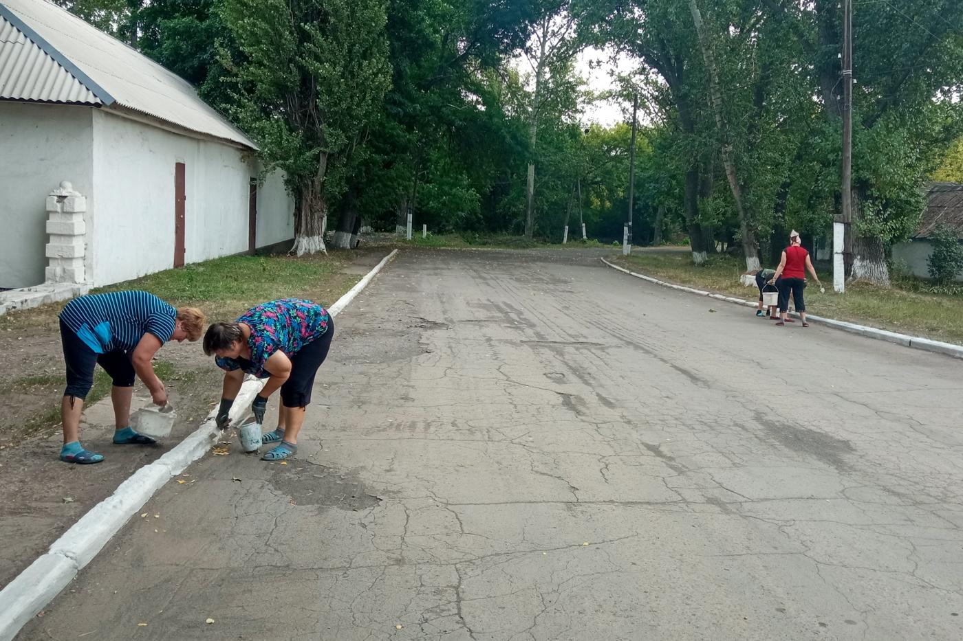 Активисты Краснолучского теротделения «Мир Луганщине» благоустроили парковую зону 2