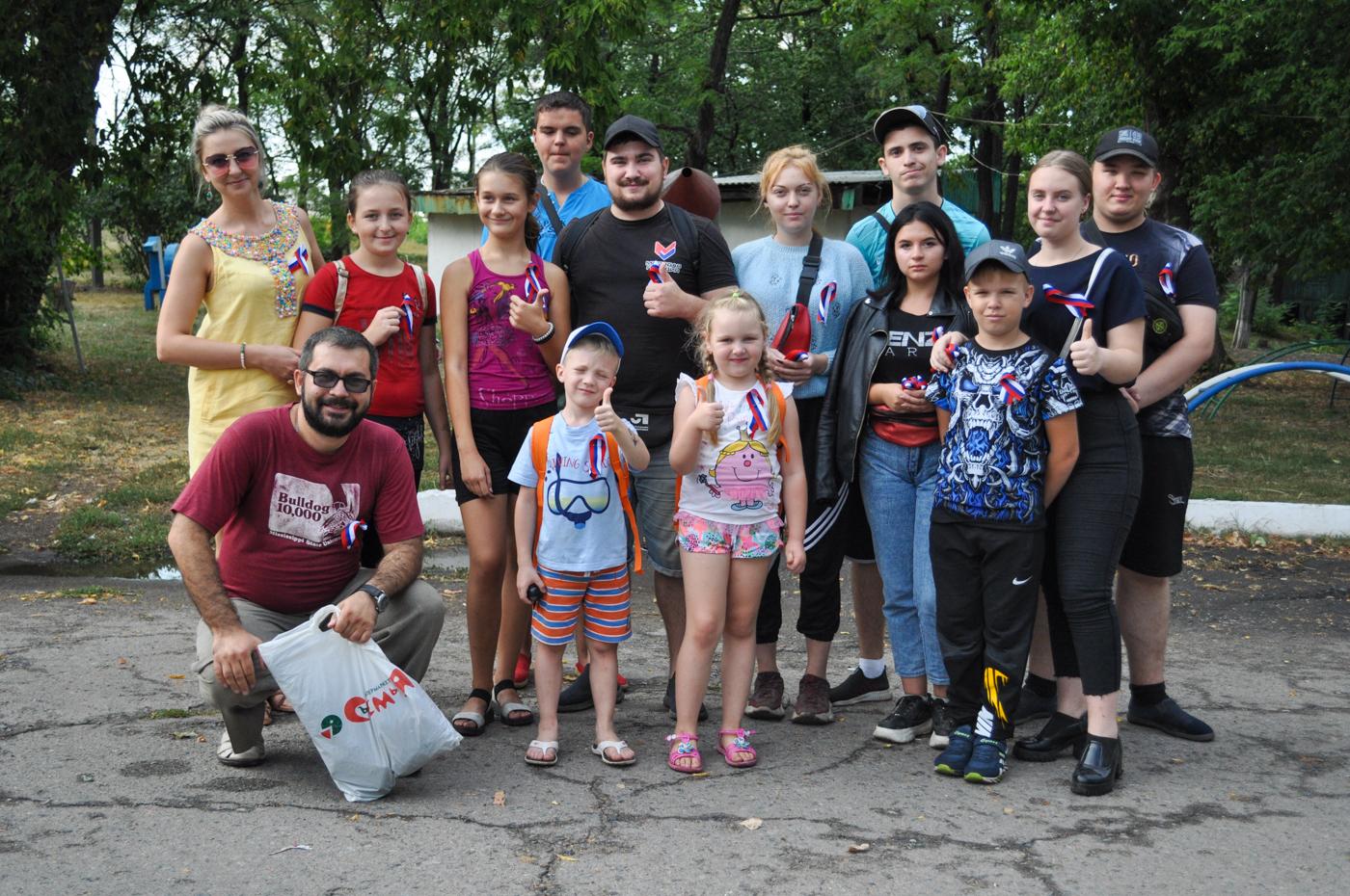 Активисты ОД «Мир Луганщине» провели праздничные мероприятия, посвящённые Дню Государственного флага Российской Федерации 3