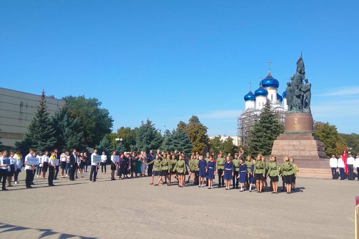 Торжественное завершение акции «Эстафета Победы» состоялось в Краснодоне