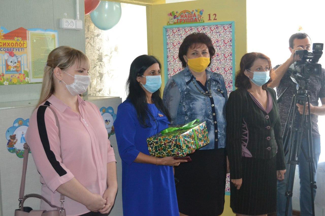 Белла Демешко приняла участие в открытии дошкольной группы в ровеньковском яслях-саде 1