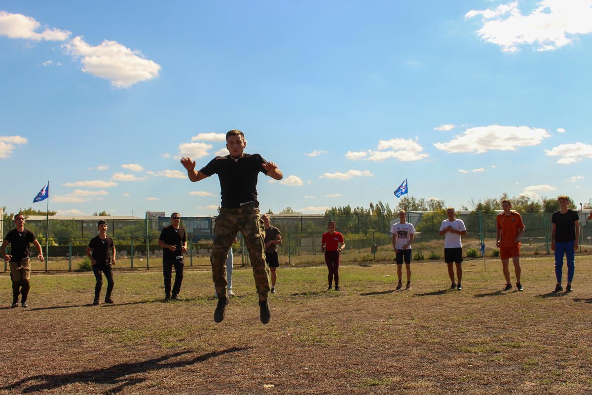 Для первокурсников из Луганска активисты проекта «Дружина» провели «Богатырские игры» 2