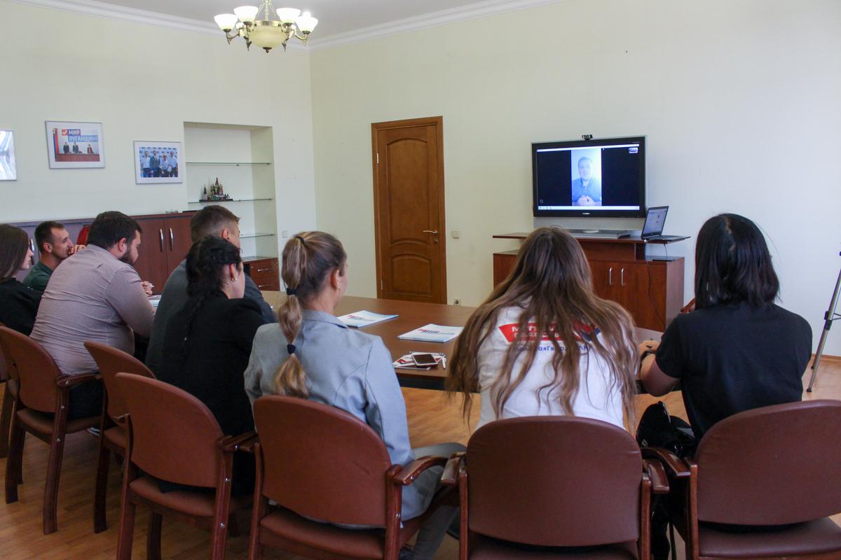 Активисты проекта «Молодая Гвардия» провели телемост с председателем Общероссийского общественного движения «Всероссийский межнациональный союз молодежи» 2