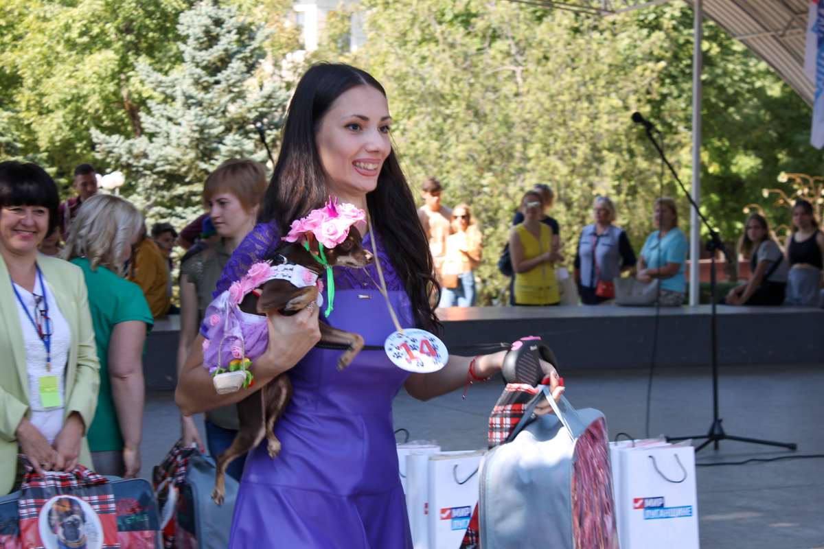 Шоу «Леди на велосипеде» и зоодефиле «Четыре лапы» прошли в Луганске в честь Дня города 7