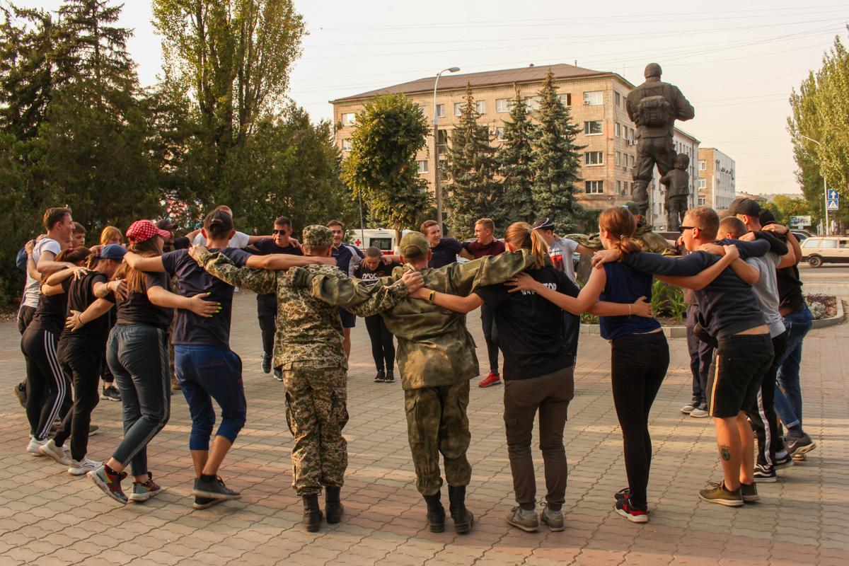 Активисты проекта «Доброволец» провели открытую тренировку для учащихся колледжей Луганска 5