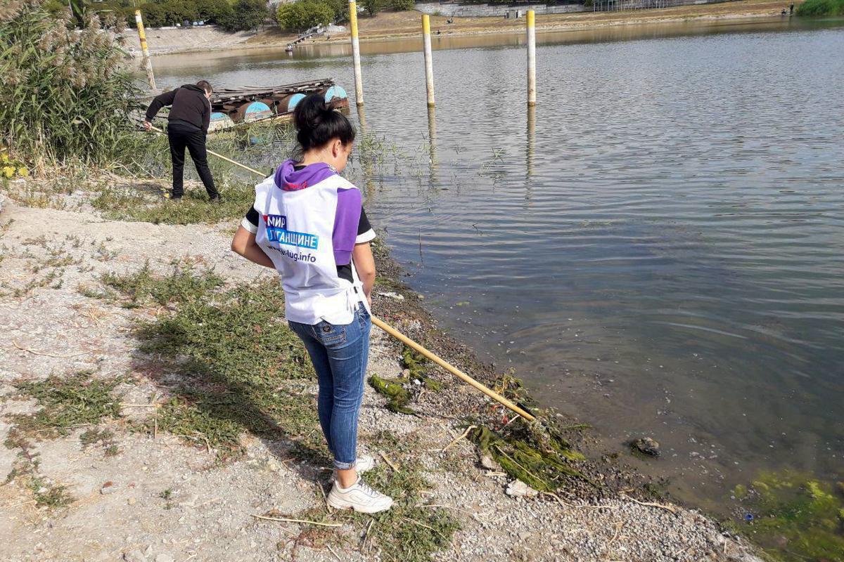 В Кировске активисты проекта «Молодая Гвардия» провели акцию-субботник «Чистый берег»