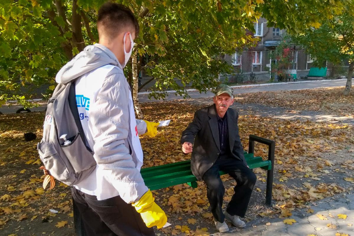Листовки с информацией об акции «Стоп наркотикам!» раздали жителям Кировска