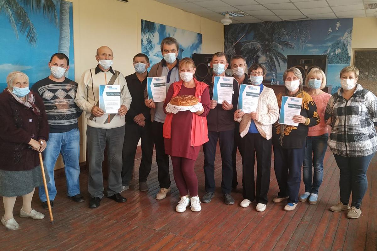 Активисты жилого массива Сабовка города Брянки устроили праздник для ветеранов труда