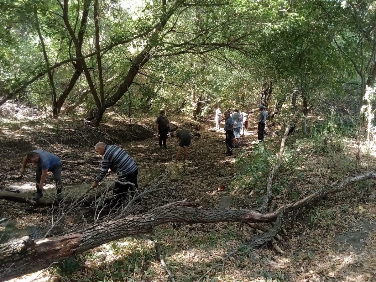Активисты движения расчистили русло реки Луганчик в районе села Волнухино
