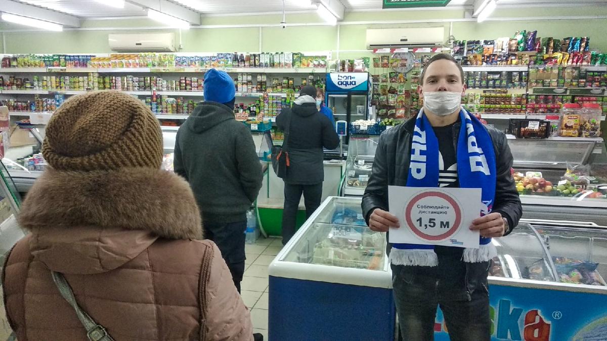 Активисты Брянки напомнили горожанам о профилактике коронавирусной инфекции 2