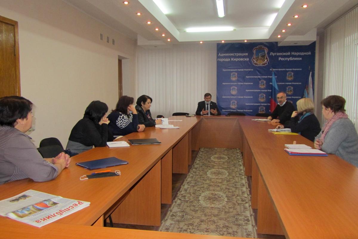 В Кировске председатель теортделения ОД «Мир луганщине» встретился с председателями первичных отделений