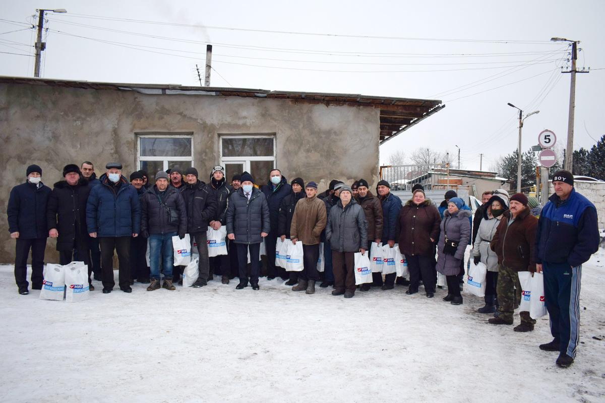 Работники коммунального предприятия Первомайска получили помощь от проекта «Волонтёр»