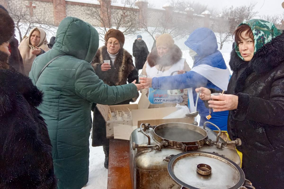 В посёлке Бугаёвка активисты отпраздновали Крещение