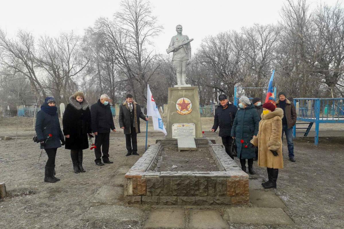 В посёлке Каменный прошёл митинг, приуроченный освобождению посёлка от немецко-фашистских захватчиков