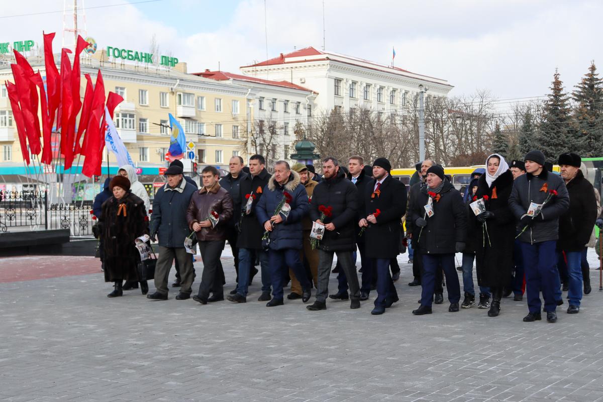 В Луганске прошёл митинг-реквием, приуроченный ко Дню освобождения Луганска от немецко-фашистских захватчиков 3