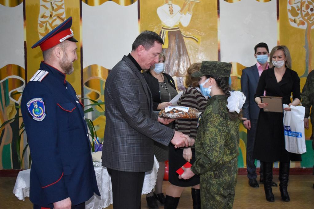 Пятиклассников Брянковской гимназии посвятили в кадеты 4