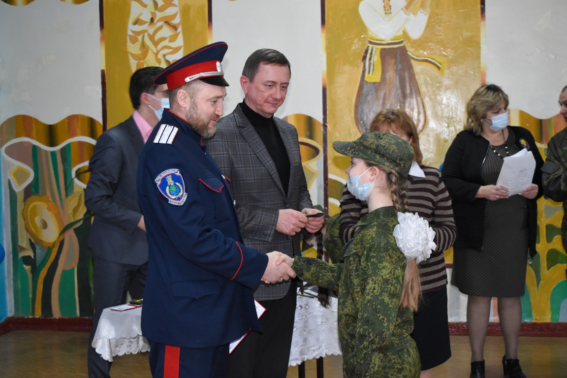 Пятиклассников Брянковской гимназии посвятили в кадеты