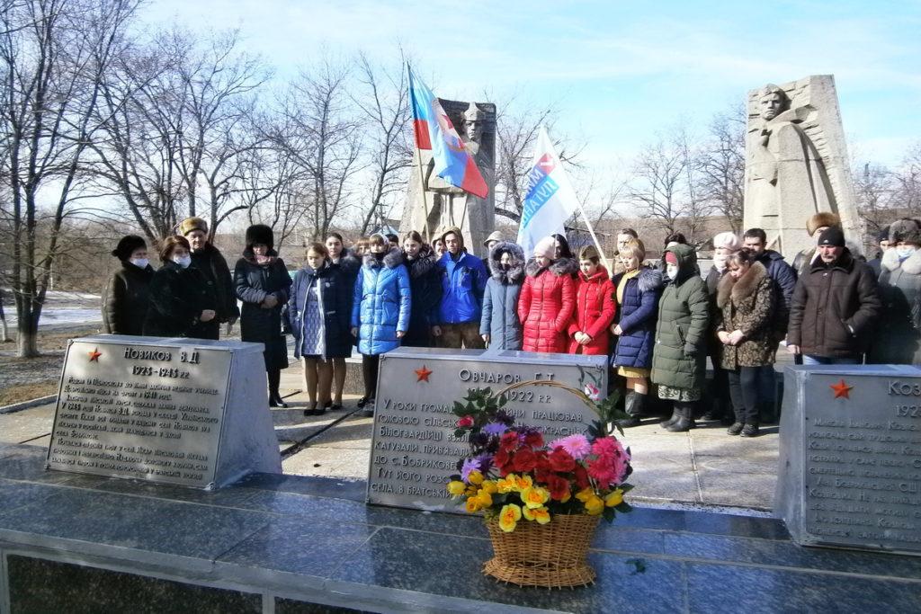 В разных городах ЛНР активисты ОД «Мир Луганщине» провели памятные мероприятия к годовщине окончания Чернухино-Дебальцевской операции 7