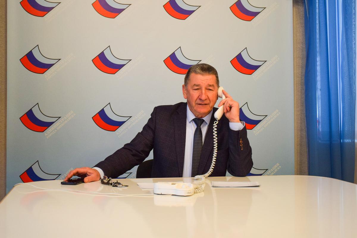 В Первомайске Николай Токарев провёл прямую телефонную линию