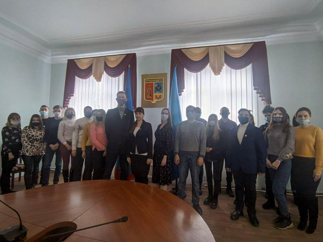 Александра Коваленко встретилась с молодёжью Краснодона