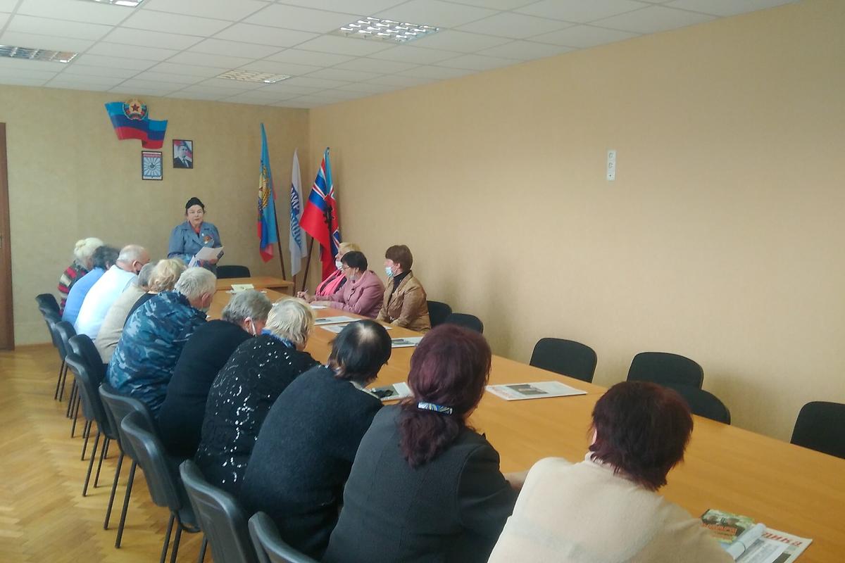В Красном Луче прошла встреча активистов проекта «Забота о ветеранах»