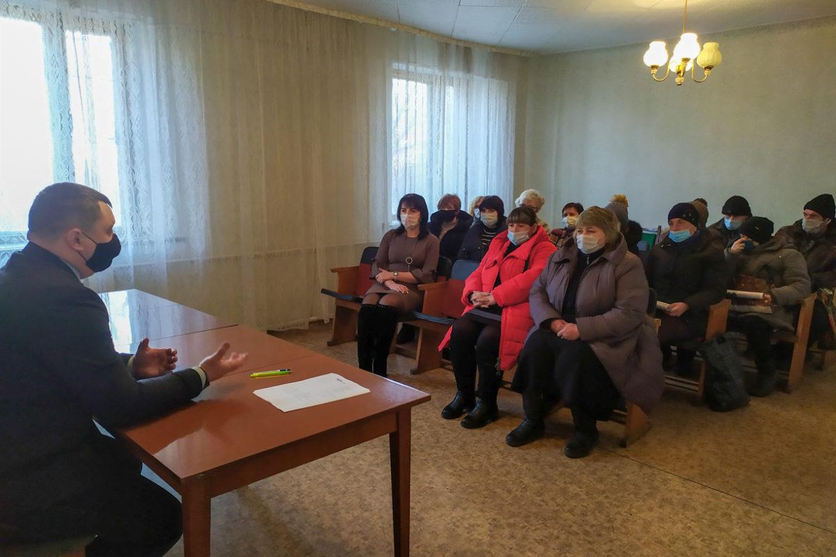 В Вахрушево прошла встреча председателя первичного отделения с активистами