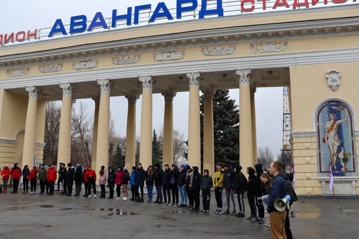 Молодёжь ЛНР приняла участие в «Русской пробежке», приуроченную к началу «Русской весны» 6