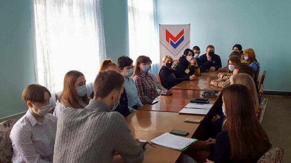 В Краснодоне активисты проекта «Молодая Гвардия» провели тренинг по ораторскому искусству