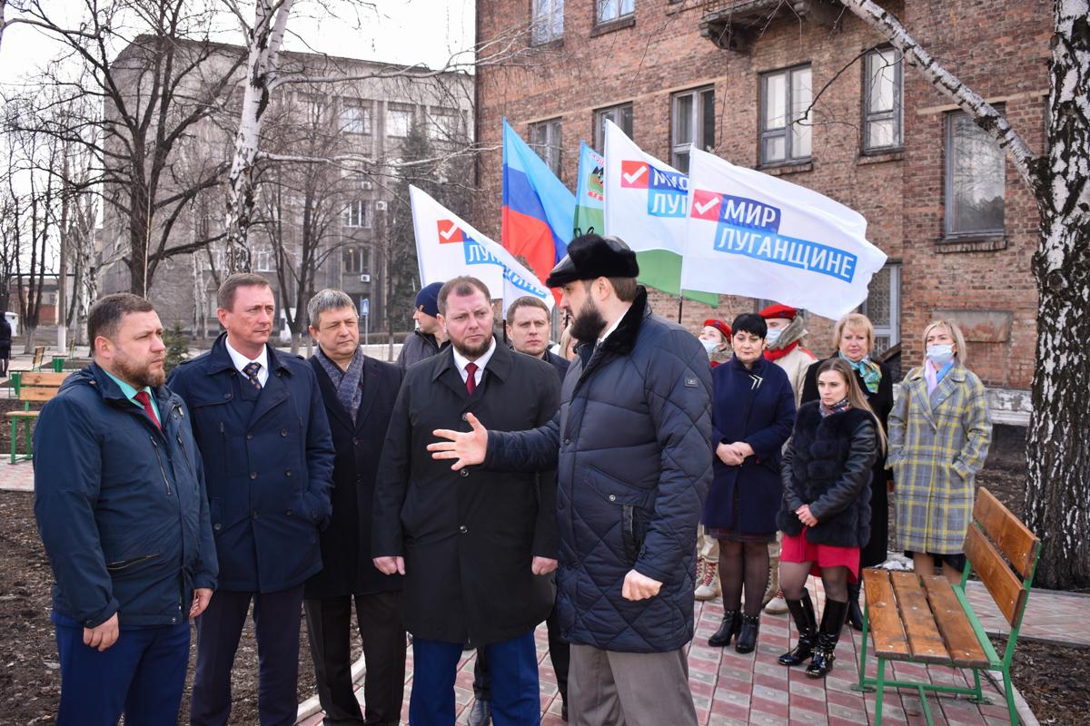 Делегация из Брянки с официальным визитом посетила Дебальцево ДНР 6