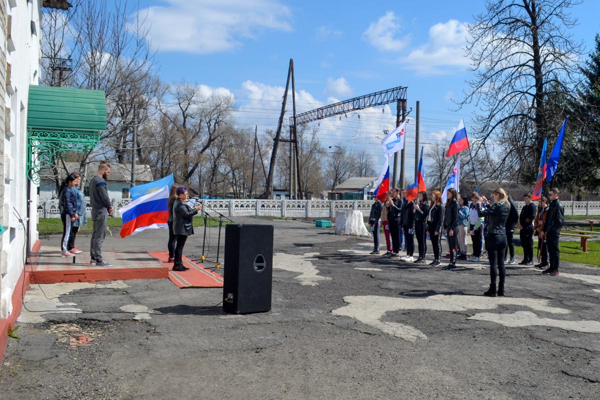 В поселке городского типа Новодарьевка прошла«Русская пробежка», посвященная седьмой годовщине Русской весны