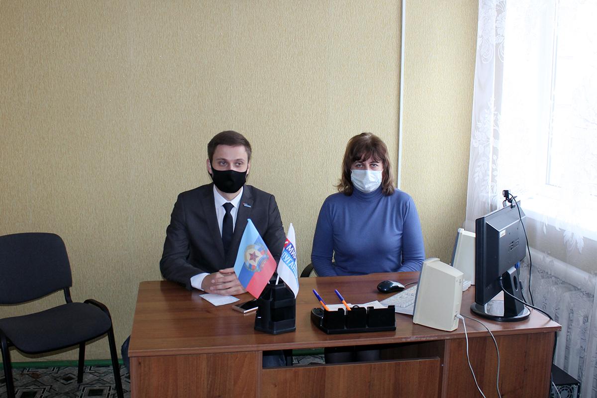 Руководитель исполкома Краснолучского теротделения ОД «Мир Луганщине» встретился с жителями поселка Хрустальное2