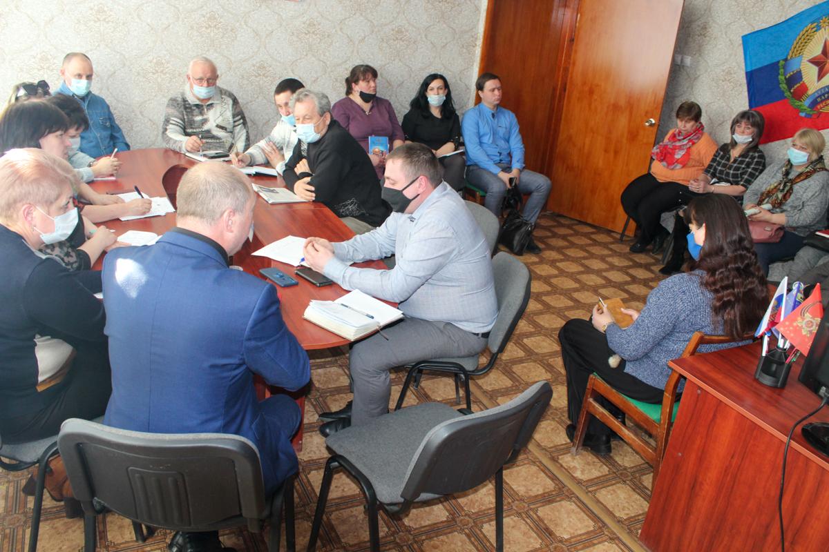 Председатель Славяносербского теротделения встретился с активом города Зимогорье