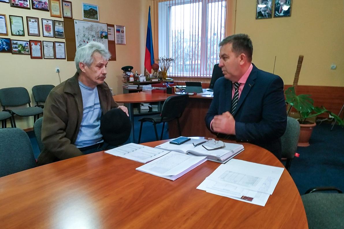 Виталий Михайлов провёл личный приём граждан в Перевальске