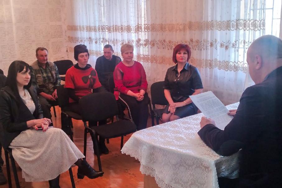 В Антраците состоялась встреча актива Дубовского первичного отделения ОД «Мир Луганщине»